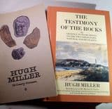 THE TESTIMONY OF THE ROCKS by Hugh Miller - plus a booklet on Hugh Miller's life (Second hand)