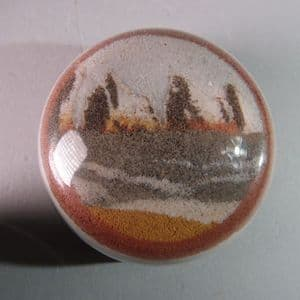VINTAGE SAND PAPERWEIGHT -  ALUM BAY, ISLE OF WIGHT (SECOND HAND)